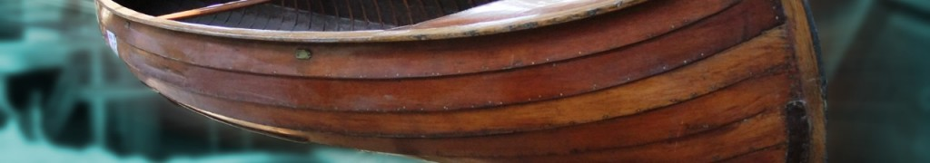Clinker-built-canoe-blue