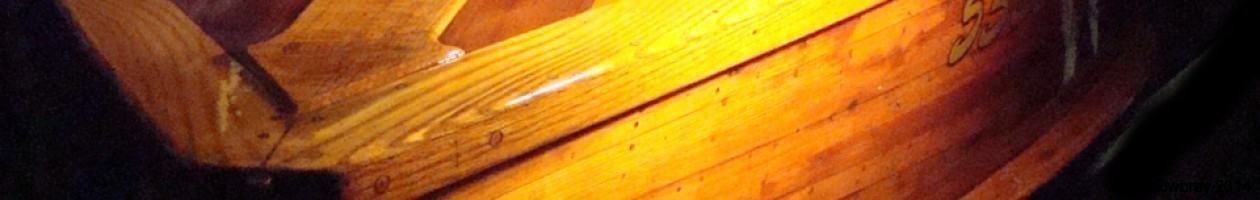 Classic Antique Wooden Boat Detail