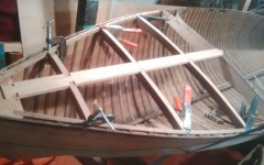 new deck frame being rebuilt